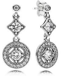 PANDORA - Vintage Allure Drop Earrings - Lyst