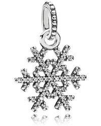 PANDORA - Snowflake Necklace Pendant - Lyst