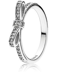 Pandora | Delicate Bow Ring | Lyst