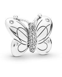 PANDORA - Decorative Butterfly Clip - Lyst