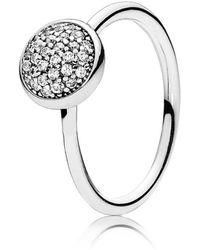 PANDORA - Dazzling Droplet Ring - Lyst
