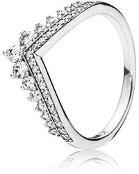 PANDORA - Princess Wish Ring - Lyst