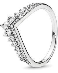 PANDORA - Princess Wish Ring - Lyst