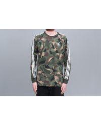 4c6a76ef adidas Originals Adidas Tnt Tape Navy Crew Neck Sweatshirt in Blue ...