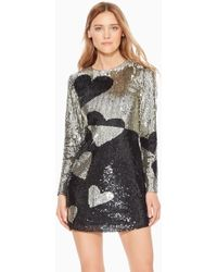 Parker - Axel Sequined Heart Dress - Lyst