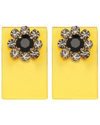 Sylvio Giardina - Perspex Square Stud Earrings Yellow - Lyst