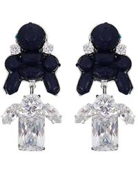 EK Thongprasert | Stepney Drop Earrings Dark Blue/white Crystals | Lyst