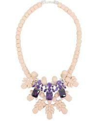 EK Thongprasert   Silicone Three Jewel Neckpiece Beige/amethyst Crystals   Lyst