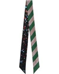 Fendi - Wonders Wrappy Scarf Green Stripe - Lyst