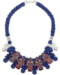 EK Thongprasert - Silicone Five Jewel & Metal Neckpiece Dark Blue/red Crystals - Lyst