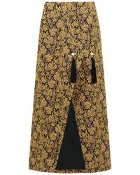Mother Of Pearl - Embroidered Jacquard Wrap Skirt Multi - Lyst