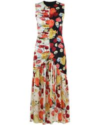 Mother Of Pearl - Pauletta Dutch Tulip Print Dress Ivory - Lyst