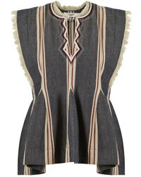 Isabel Marant - Etoile Drappy Stripe Top Faded Black - Lyst