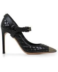 Valentino - Quilted Spike 105mm Heel Black - Lyst