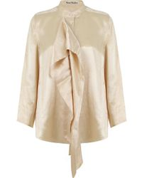 Acne Studios - Bodil Blouse Champagne - Lyst