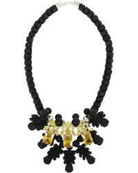EK Thongprasert - Silicone Three Jewel Neckpiece Black/citrine Crystals - Lyst