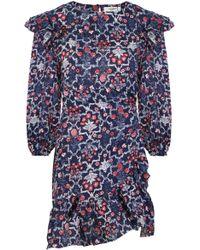 Isabel Marant - Etoile L/s Telicia Wrap Dress Midnight Print - Lyst