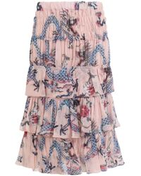 Isabel Marant - Zuki Tiered Skirt Light Pink - Lyst