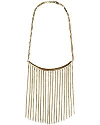 Chloé - Delfine Chain Necklace Gold - Lyst