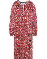 68ed6196587 Lyst - Isabel Marant Etoile Women s Talita Printed Linen Dress in ...
