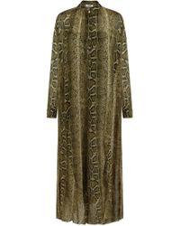 Isabel Marant - Etoile L/s Joly Snake Print Maxi Dress Ochre - Lyst