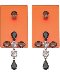Sylvio Giardina - Perspex Rectangular Drop Earrings Orange - Lyst