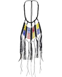 En Inde - Suez Handwound Neckpiece Black/yellow/blue/red - Lyst