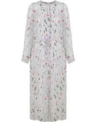Isabel Marant   Etoile Baphir Print Maxi Dress Ecru   Lyst