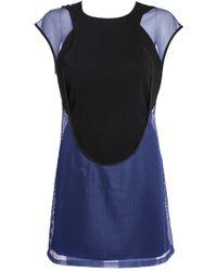 Junya Watanabe - Ester Mesh Dress Blue/black - Lyst