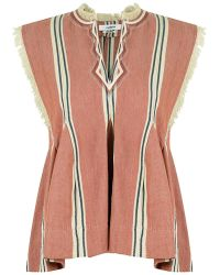 Isabel Marant - Etoile Drappy Stripe Top Terracotta - Lyst