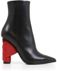 Balenciaga | Bistrot 110mm Ankle Boot Black/red | Lyst