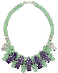 EK Thongprasert - Silicone Five Jewel & Metal Neckpiece Mint/amethyst Crystals - Lyst