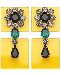 Sylvio Giardina - Perspex Two Piece Drop Earrings Yellow - Lyst