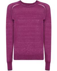 c9cea6440d Isabel Marant - Etoile L s Foty Crew Neck Knit Purple - Lyst