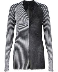 Proenza Schouler - Metallic Rib Knit Top Silver - Lyst