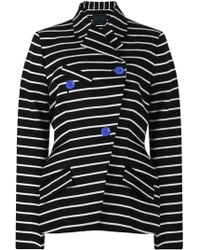 Proenza Schouler - Double Breasted Stripe Jacket Black/white - Lyst
