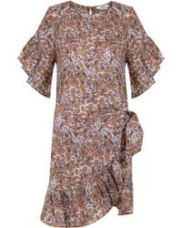 Isabel Marant - Etoile Delicia Paisley Floral Print Wrap Dress Ochre - Lyst