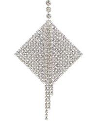 Isabel Marant - Single Tier Diamante Earring Silver - Lyst
