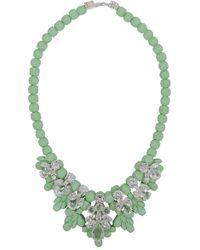 EK Thongprasert | Silicone Seven Jewel Neckpiece Mint/white Crystals | Lyst