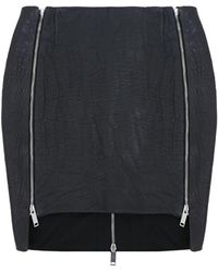 Strateas Carlucci - Zip Track Skirt Leather Black - Lyst