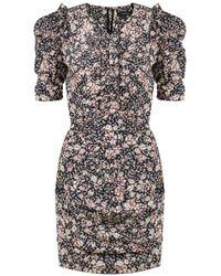 1f32dadb559f Isabel Marant - Brizia Spring Flower Print Dress Black - Lyst