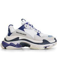 Balenciaga - Triple S Trainer White/blue/violet - Lyst
