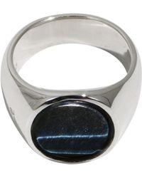 Tom Wood - Blue Hawk Eye Oval Ring - Lyst
