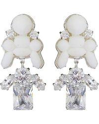 EK Thongprasert | Stepney Drop Earrings White/white Crystals | Lyst