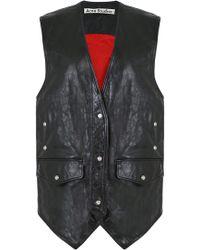 Acne Studios - Carletta Leather Vest Black - Lyst