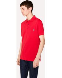 Paul Smith - Men's Red Organic Cotton-piqué Zebra Logo Polo Shirt - Lyst