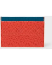 Paul Smith - No.9 - Scarlet Red Leather Card Holder With Multi-Coloured Card Slots - Lyst