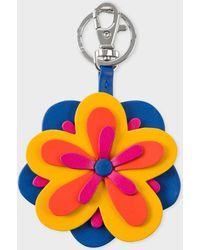 Paul Smith - Multi-Coloured Flower Leather Keyring - Lyst