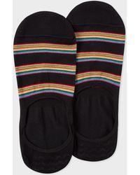 Paul Smith - Black Multi-Stripe Block Loafer Socks - Lyst