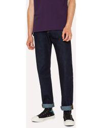 Paul Smith - Classic-Fit Indigo-Rinse 14oz 'Organic Pepper 'N' Salt' Jeans - Lyst